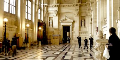 Salle Voltaire de la cour de justice de Paris.